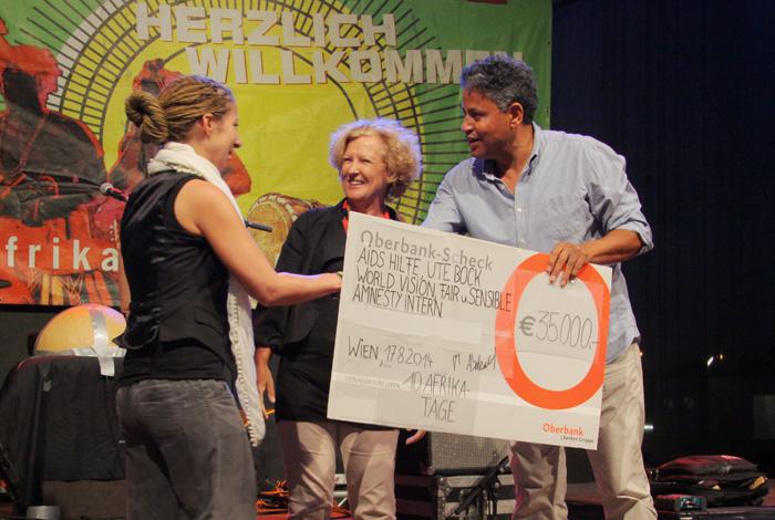 2014 Afrika Tage: 35.000,- an Hilfsorganisationen in Wien
