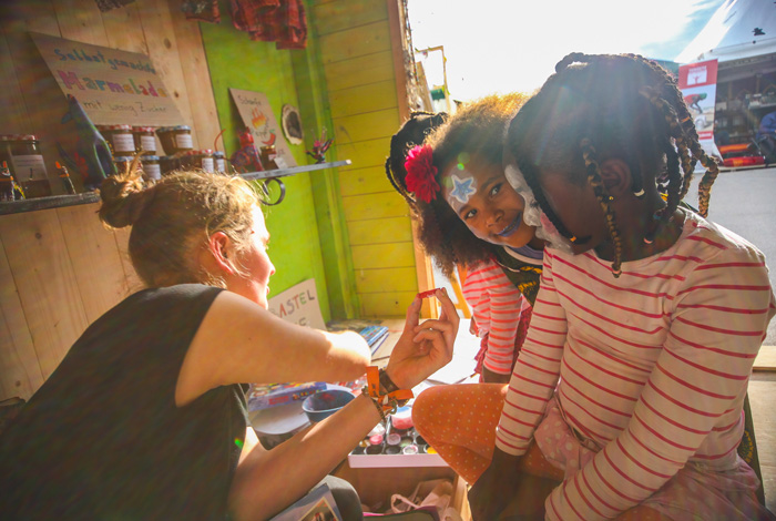 Trommeln Kinder Afrika Tage