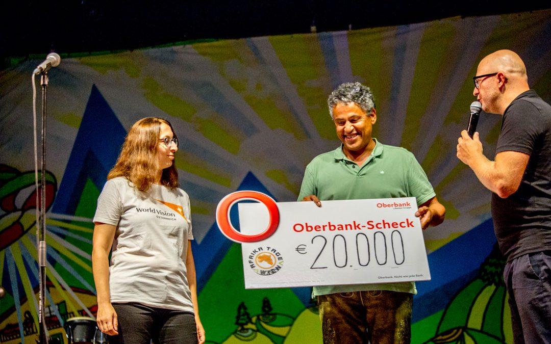 2019 Afrika Tage Wien 20.000,- Spendenübergabe